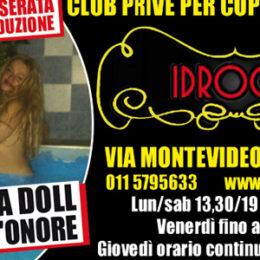 Pornostar Torino: all'Idroclub Privè arriva Rossana Doll